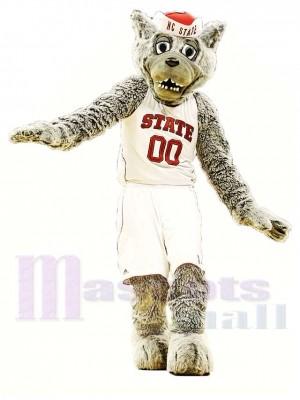 Loup gris sport Costume de mascotte