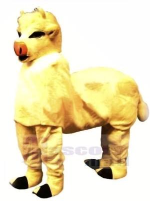 Mignonne Jaune Nouveau 2 La personne Vache Mascotte Costume