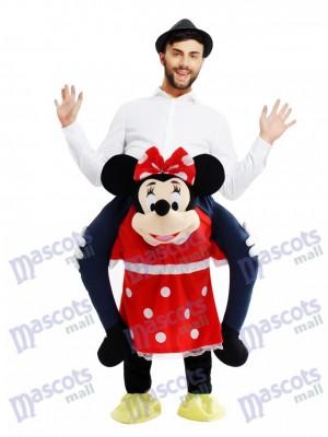 Porte moi le Piggyback Minnie Mouse Carry Me Ride Souris Mascotte Costume