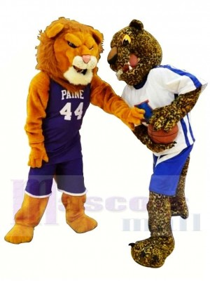 Lion et léopard sportifs Costume de mascotte