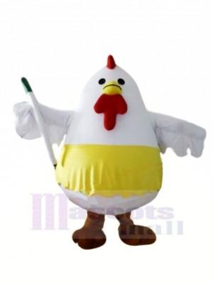 blanc Graisse poulet Mascotte Les costumes Animal
