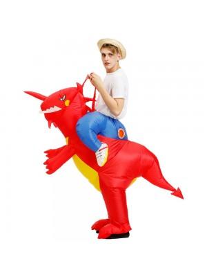 Dinosaure Balade sur Gonflable Costume Coup en haut Costume pour Adulte/Enfant rouge