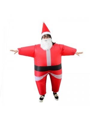 Père Noël Claus Gonflable Costume Halloween Noël Costume Pour Enfant