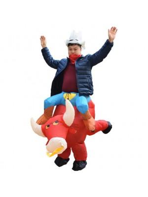 Vache Porter moi Baladesur Gonflable Costume Halloween Noël pour Adulte