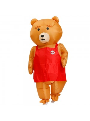 marron Teddy Ours Gonflable Costume Halloween Noël Cosplay Costume