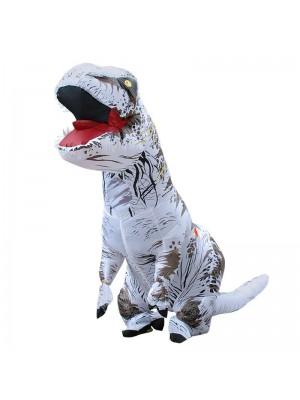 blanc Tyrannosaurus T-Rex Dinosaure Gonflable Costume Halloween Noël pour Adulte/enfant