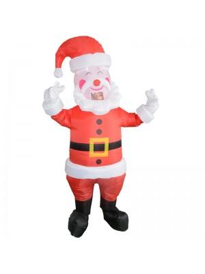 Père Noël Claus avec Jaune Ceinture Gonflable Costume Halloween Noël Costume pour Adulte
