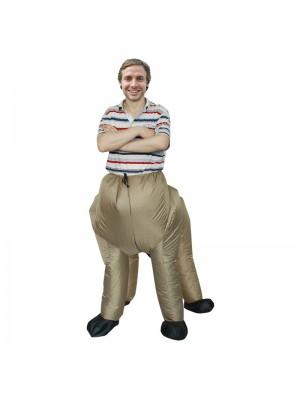 marron Centaure Mi-homme Demi-cheval Gonflable Costume Halloween Noël Vacances Costume pour Adulte