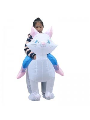 Chat Porter moi Balade sur Gonflable Costume Fantaisie Coup en haut Le maillot de corps pour Enfant