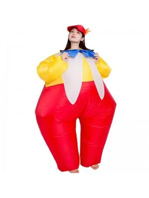 Pitre avec Attacher Gonflable Costume Halloween Noël Combinaison pour Adulte