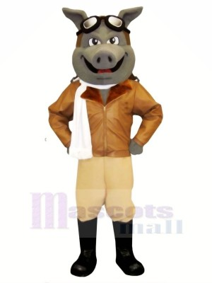 Airhog avec blanc Écharpe Mascotte Les costumes Animal