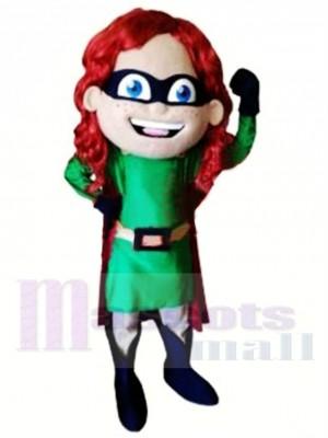 Super fille de haute qualité Costume de mascotte