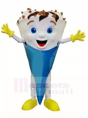 Heureux léger Crème glacée Costume de mascotte Livraison gratuite