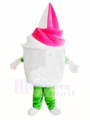 Vanille fraise Crème glacée Costume de mascotte