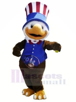 Bleu Gilet américain Jeux olympiques Aigle Mascotte Les costumes Animal