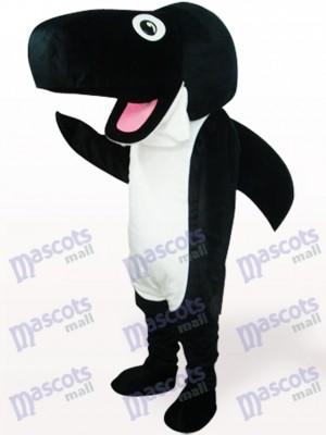 Costume de mascotte adulte en peluche baleine noire