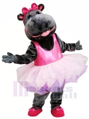 Rose Jupe Ballerine Hippopotame Mascotte Costume Animal