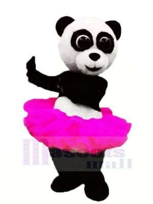 Rose Jupe Ballet Panda Mascotte Costume Animal