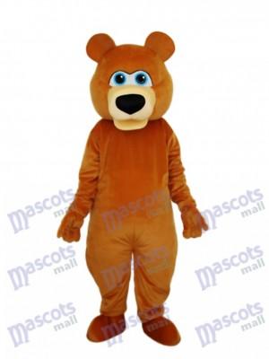 Mascotte de l'ours brun étrange Costume adulte