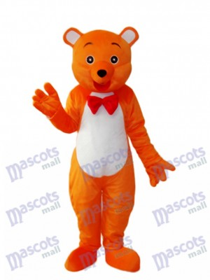 Costume adulte mascotte ours orange