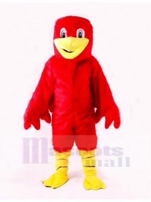 rouge Mignonne canard Mascotte Les costumes Dessin animé