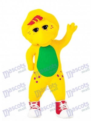 Drôle Barney Bop Bj Jaune Masculin Protoceratops Costume Mascotte Dessin Animé Anime