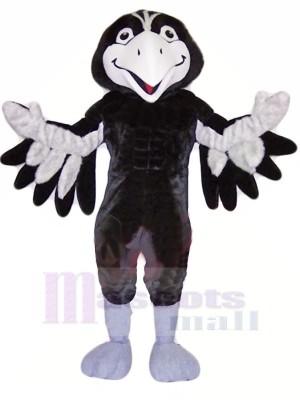 Noir et Gris faucon Mascotte Les costumes Animal