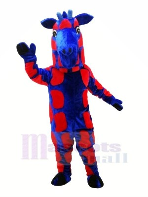 Bleu et rouge Girafe Mascotte Les costumes Animal