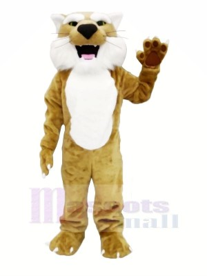 marron Lynx Mascotte Les costumes Animal