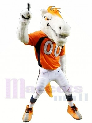 Mustang Cheval Broncos Costume de mascotte