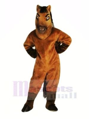 marron Cheval Adulte Mascotte Les costumes Animal