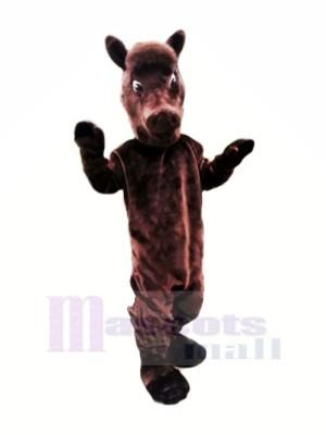 marron Poids léger Cheval Mascotte Les costumes Animal