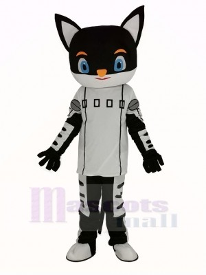 Monsieur Noir Chat Mascotte Costume Dessin animé