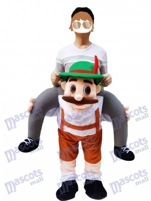 Piggy Back épaule bavaroise Oktoberfest bière Guy Carry Me Ride Mascotte Costume