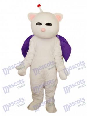 Nez rose chat blanc Mascotte Costume adulte Animal
