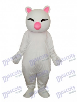 Big Pink Nez Chat Blanc Mascotte Costume Adulte Animal
