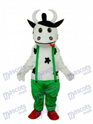 Vache en vert Costume adulte mascotte générale Animal