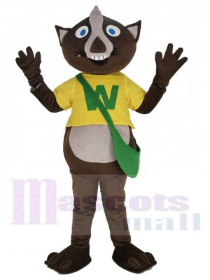 Wombat dans Jaune T-shirt Mascotte Costume