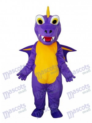 Long épine pourpre dinosaure mascotte Costume adulte Animal