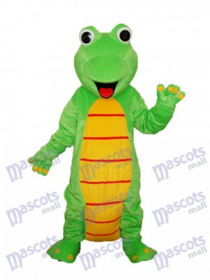 Mascotte de dinosaure heureux lézard Costume adulte Animal