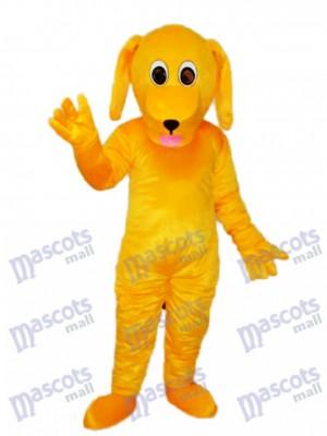 Mascotte de chien jaune Mascotte Costume adulte