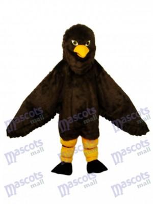 Costume adulte mascotte aigle marron à poils longs Animal