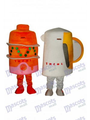 2 Coupes Mascotte Adulte Costume