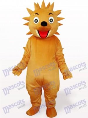 Costume de mascotte adulte jaune brun hérisson