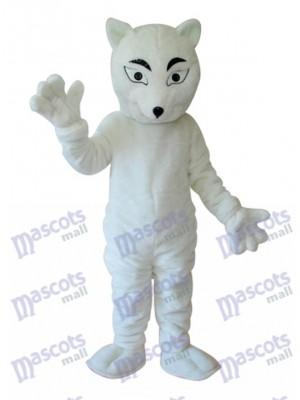 Costume de mascotte renard blanc adulte