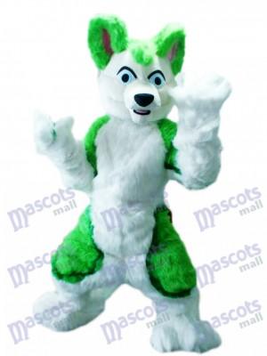 vert Rauque Chien Adulte Mascotte Costume Animal Dessin animé