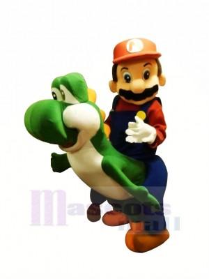 Marrant Mario Yoshi Mascotte Les costumes Dessin animé