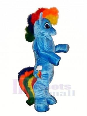 Bleu Poney Cheval Mascotte Les costumes Dessin animé