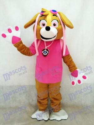 Rose Costume de mascotte Chien Costume de fantaisie Personnage de dessin animé