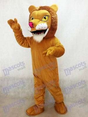 Costume de mascotte Lion d'Afrique avec nez rouge